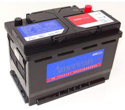 Аккумулятор автомобильный American 57413 74 А/Ч 680 А пр. пол. (278x175x190) 572409 E43 E38