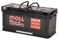Аккумулятор автомобильный MOLL M3plus 110 Ач обр. 110А/ч 850А обр. 393x175x190