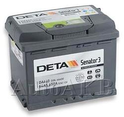 Аккумулятор автомобильный Deta Senator 64 Ач обр. 64А/ч 640А обр. 242x175x190