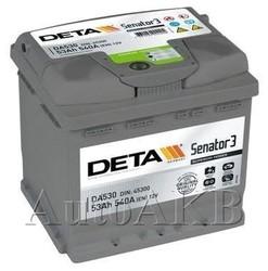 Аккумулятор автомобильный Deta Senator 53 Ач обр. 53А/ч 540А обр. 207x175x190