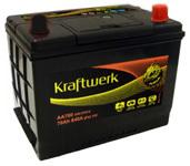 Аккумулятор автомобильный Kraftwerk 90D23L 70А/ч 600А обр. 232x173x225