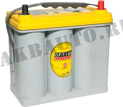 Аккумулятор автомобильный Optima Yellow Top S 2.7J 38 А/Ч 460 А 8072-176 прям. пол. тонкие клеммы (238x129x227) B33 545157 (AGM)