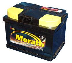 Аккумулятор автомобильный Moratti 55 А/Ч 550 A прямая пол. (207x175x190) B20