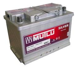 Аккумулятор автомобильный Mutlu Calcium Silver (серая) 75 А/Ч 720 А прям. пол. (278x175x190) 574013 E12