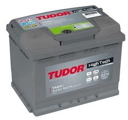 Аккумулятор автомобильный Tudor High-Tech 64 А/Ч 640 A прямая пол. TA641 (242x175x190) D39 563401