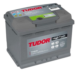 Аккумулятор автомобильный Tudor High-Tech 64 А/Ч 640 A обр.пол. TA640 (242x175x190) D15 563400