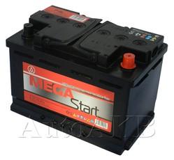 Аккумулятор автомобильный Megastart6СТ-75 75А/ч 680А обр. 278x175x190