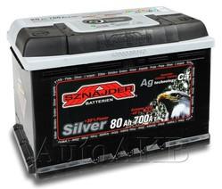 Аккумулятор автомобильный SZNAJDER Silver 580 25 80А/ч 700А обр. 278x175x190 580 25